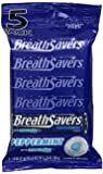 Breath Savers Mints, Peppermint, 5-Count Packages (Pack of 15)