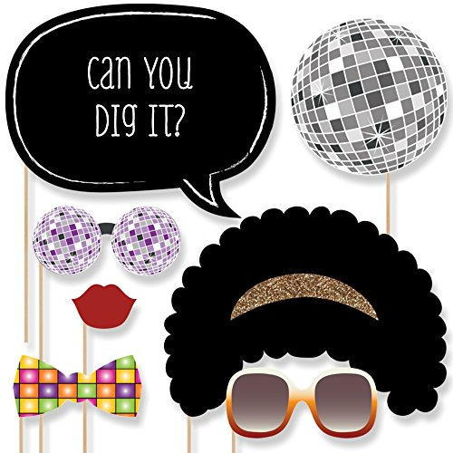 70 s Disco - Photo Booth Props Kit - 20