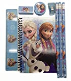Blue Disney Frozen Princess Anna Elsa & Olaf Stationary Set for Kids