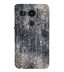 Black Color Wall Cute Fashion 3D Hard Polycarbonate Designer Back Case Cover for LG Nexus 5X :: LG Google Nexus 5X New