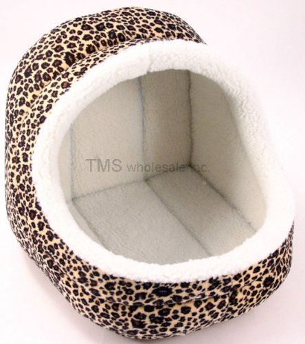 New Medium Cheetah Print Dog / Cat Pet House Pet Supply
