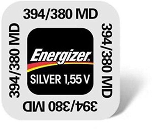 ENERGIZER Lot de 6 Blisters de 1 Pile Oxyde d'Argent pour montres 394/380 SR45 SR936SW