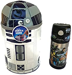 Star Wars Lunch Box Bundle - (2 Items): 1 Star Wars Lunch Box (Soft and Insulated), 1 Thermos Funtainer Star Wars.