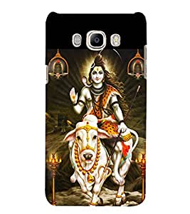LORD SHIVA Designer Back Case Cover for Samsung Galaxy J7(2016) Edition 5.5 Inches Screen