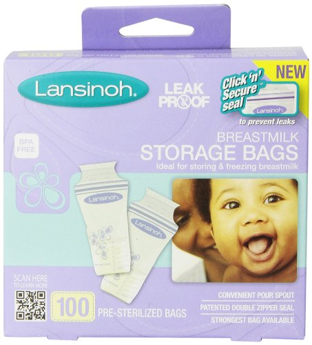 Lansinoh Breastmilk Storage Bags, 100 Count - 1