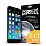 iPhone 6 Screen Protector - Invisible Defender [3+1 Free/MAX HD CLARITY] Lifetime Warranty Perfect Touch Precision High Definition (HD) Clarity Film (4-Pack) for Apple iPhone 6
