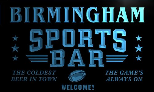Tj2147-B Birmingham Sport Bar Beer Pub Club Neon Light Sign