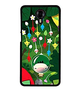 Vizagbeats cartoon flowers Back Case Cover for MICROMAX XPRESS 2 E313