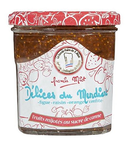 Confiture délice du mendiant (figue, raisin, orange confite), 340 grammes