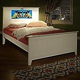 LightHeaded Beds Shaker Full Bed with back-lit LED Headboard Imagery - Satin White