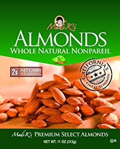 Madi Ks Whole Natural Almonds 11-ounce Pouches Pack Of 4 by Madi K's