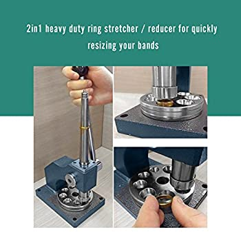 BEAMNOVA 2 in 1 Ring Stretcher Sizer Enlarger & Reducer Repair Adjustment Jewelry Making Tool