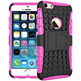 iPhone 6 & iPhone 6s Case 4.7-INCH DRUnKQUEEn® Heavy Duty Rugged Hybrid Armor Dual Layer Hard Shell Tire Tread Grenade Grip Combat Tyre Textured Cover with Kickstand for Apple iPhone6 / iPhone6S