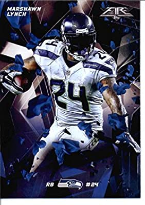 2015 Topps Fire #27 Marshawn Lynch Seattle Seahawks Football Card-MINT