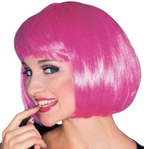 Rubie's Costume Hot Pink Super Model Wig, Hot Pink, One Size - 1