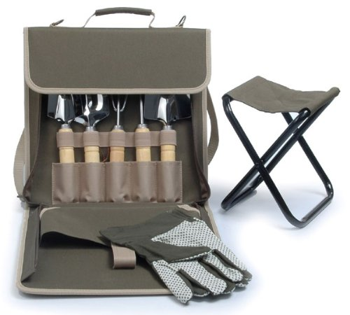 The Terrace Carrier Gardening Bag with Tools and Folding Stool