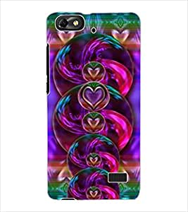 ColourCraft Beautiful Hearts Design Back Case Cover for HUAWEI HONOR 4C