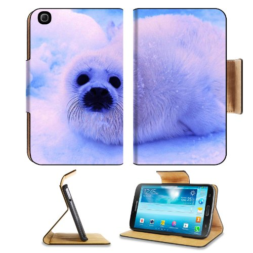 Animal Wildlife Seal Snow Cute White Furry Baby Samsung Galaxy Tab 3 8.0 Flip Case Stand Magnetic Cover Open Ports Customized Made To Order Support Ready Premium Deluxe Pu Leather 8 7/16 Inch (215Mm) X 5 6/8 Inch (145Mm) X 11/16 Inch (17Mm) Luxlady Galaxy front-992931
