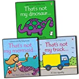 Fiona Watt Fiona Watt Touchy-Feely 3 Children Books Collection Pack Set (Thats Not My Truck, That's Not My Dinosaur, That's Not My Mermaid (Usborne Touchy Feely Books))