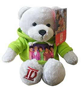 One Direction Plush Bear - with Hooded Lime Green Sweatshirt featuring all 5 Band Members! by One Direction