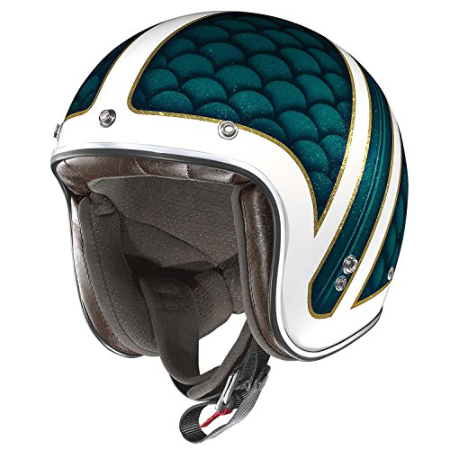 X-Lite 201Santa Monica Motorcycle Composite Fibre N-Com Jet Helmet White Blue