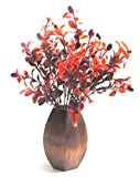 Miracle Retail Artificial Plant with Wooden Pot(32 cm , Red, Brown)
