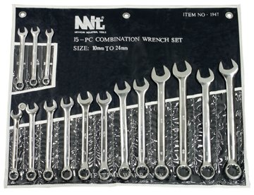 TEKTON 1947 Combination Wrench Set, Metric, 15-Piece