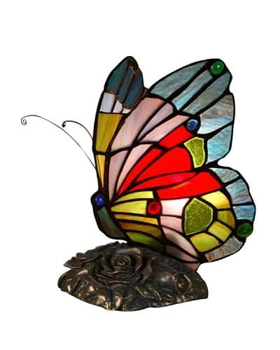 Arte Dal Mondo Lampada da Comodino Farfalla H23 x L14,5 x S16,5 cm