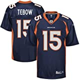 Reebok Tim Tebow Denver Broncos Replica Jersey - Navy Blue (XX-Large)