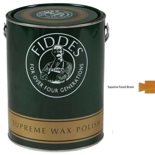 fiddes-supreme-wax-polish-5ltr-forest-brown-for-furniture-and-internal-woodwork-by-fiddes