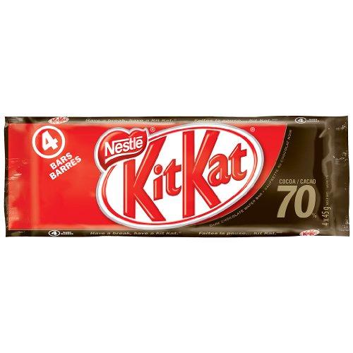Kit Kat Chocolate Dark 70-Percent, 4 x 45gm Multipack