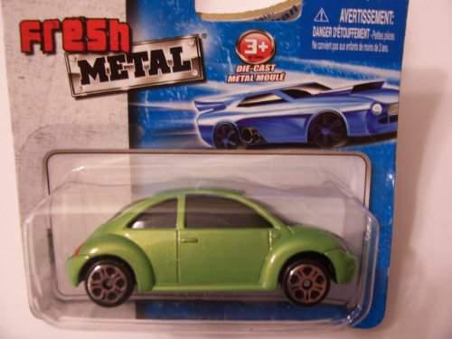 Maisto Fresh Metal Die-Cast Vehicles ~ Volkswagen New Beetle (Green) - 1