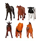 TommyChew Farm Animals Dog Toys (Pack Of 6)