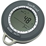 HAMSWAN Sunroad 8 in 1 Mini Digital Altimeter Climb Rate Barometer Thermometer Compass Weather Forecast Time SR108N