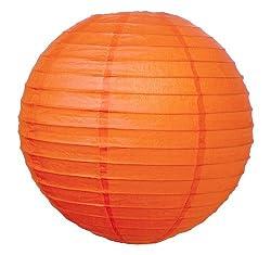 WeGlow International 8 Deluxe Paper Lantern - Orange (3 Pieces)