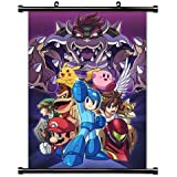 1 X Super Smash Bros WiiU Game Wall Scroll Poster (16x23) Inches
