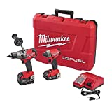 Milwaukee 2897-22CX M18 FUEL 18V Li-Ion Hammer Drill/Impact Driver Combo Kit (Color: RED)