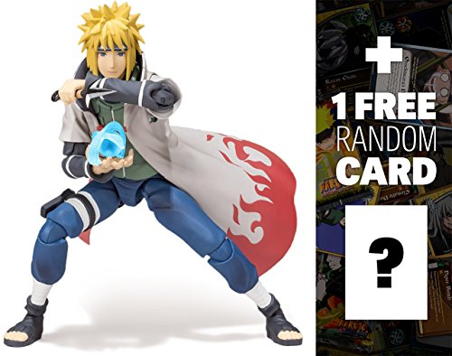Minato Namikaze: Naruto Shippuden x Tamashii Nations S.H. Figuarts Action Figure Series + 1 FREE Official Naruto Trading Card Bundle