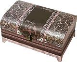 Cottage Garden Paisley Trunk Pink Belle Papier Music Box / Jewelry Box Plays Amazing Grace