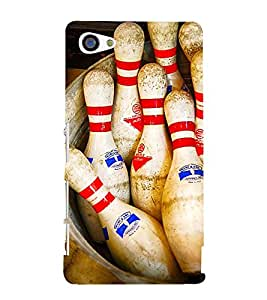 SKITTLES BOWLING PINS LYING IN A BARREL 3D Hard Polycarbonate Designer Back Case Cover for Sony Xperia Z5 Compact :: Sony Xperia Z5 Mini