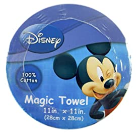 Disney Classic Mickey Mouse Magic Towel - Mickey Hand Towel (Just Add Water!)