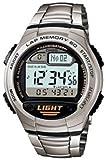 Casio カシオ Men's W734D-1AV Silver Rubber クオーツ with Digital Dial 男性用 メンズ 腕時計 (並行輸入)