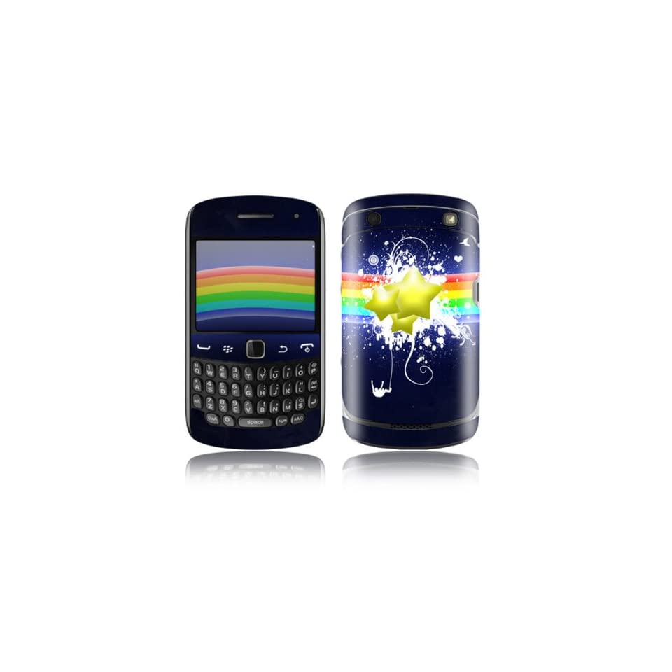 Rainbow Stars Design Decorative Skin Cover Decal Sticker for BlackBerry Curve 9350 9360 9370 Cell Phone