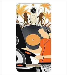 PrintDhaba Music D-4117 Back Case Cover for XIAOMI REDMI NOTE 3 PRO (Multi-Coloured)