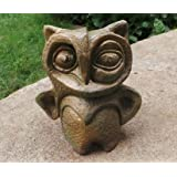 The Garden Store Owl Terracotta Painted (8 Inch)