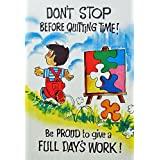 "Dolls Of India ""Don't Stop Before Quiting Time"" Reprint On Paper - Unframed (45.72 X 29.21 Centimeters)"