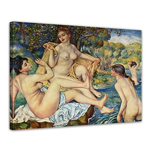 """Bilderdepot24 Leinwandbild Pierre-Auguste Renoir - Alte Meister """"Die großen Badenden"""" 70x50cm - fertig gerahmt, direkt vom Hersteller"""