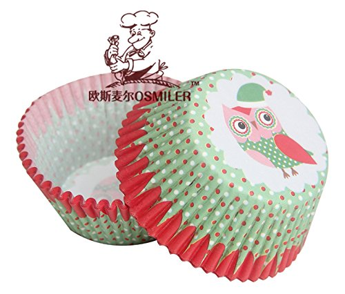 Fatflyshop - 400 Pieces/Lot Fancy Owl Cupcake Paper Liners Baking Cup Muffin Decoration Kids Birthday Party Favors Supplies front-807189