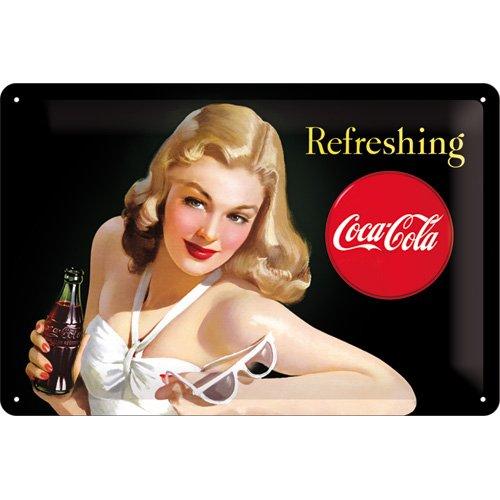 Nostalgic-Art-22227-Coca-Cola-Refreshing-Lady-Blechschild-20-x-30-cm