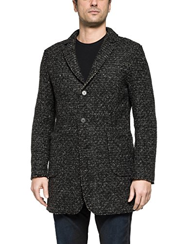 Replay M8798 .000.82646, Giubbotto Uomo, Schwarz (Black/Grey 10), Medium